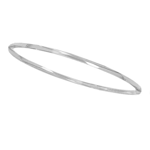 "Sterling Silver Shiny Stackable Slip On Bangle 8/""  2.2mm"