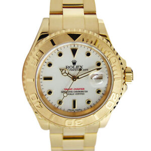 ROLEX-Mens-40mm-18kt-Yellow-Gold-YachtMaster-White-Index-16628-SANT-BLANC