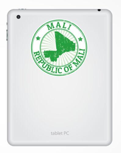 2 x 10 cm Autocollant Vinyle Mali iPad Portable Voiture Drapeau Bagage Voyage tag Map # 5479