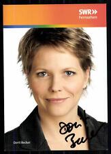 Dorit Becker SWR Autogrammkarte Original Signiert ## BC 8063