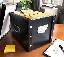 Letter Size Hanging File Box Office Storage Magazine Organizer Label Folder Blac