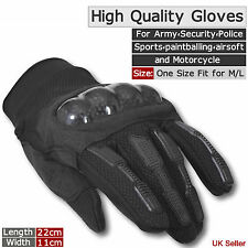 MENS MILITARY AIRSOFT COMBAT TACTICAL KNUCKLE GLOVES MOTORCYCLE-BIKE ARMY POLICE