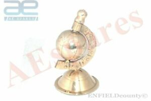 VINTAGE-BRASS-MADE-1-039-039-GLOBE-NAUTICAL-HOME-DECOR-COLLECTABLES