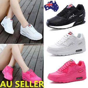Women-Mesh-Suede-Running-Shoes-Air-Cushion-Sneakers-Lace-Up-Sport-Shoes-AU-2-5-6