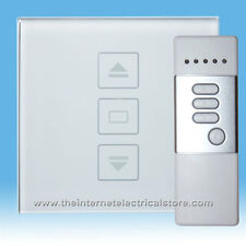 Glass Switch CTS2030 Dimmer Touch & Remote Light Switch 1 Gang 1 Way White