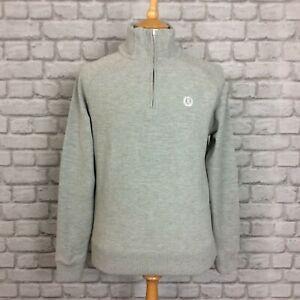 Uk Zip S Henri Lente Lloyd Casual Designer Rednor Grijs Mens Half Sweater Marl wqEZRAqr8