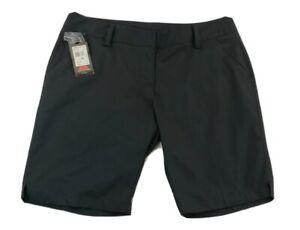Adidas Climalite Bermuda Black Shorts Womens 14 Large Golf NEW NWT