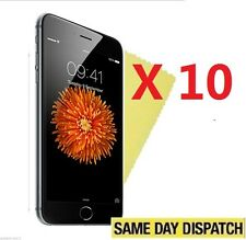 """10 X Front Clear Screen Protectors Cover Film for Apple iPhone 6 6S 4.7"""" & Cloth"""