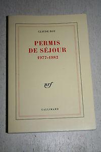 PERMIS-DE-SEJOUR-1977-1982-CLAUDE-ROY-1983