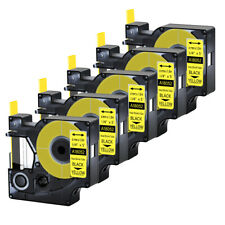 5pk For Dymo Rhino 42005200 Heat Shrink Tube 18052 Industry Label Tape 14x5