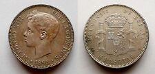 SPAIN COIN ALFONSO XIII 5 PESETAS 1898 *18*98 SG-V PLATA SILVER BUENA PIEZA