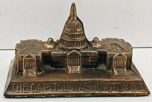 Vintage-Metal-Statue-The-Capitol-Building-Washington-D-C