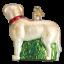 Old-World-Christmas-STANDING-YELLOW-LAB-dog-12496-N-Glass-Ornament-w-OWC-Box thumbnail 2