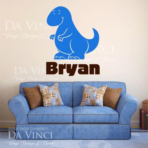 Dinosaur Boy Personalized Custom Name Vinyl Decal Sticker Decor L