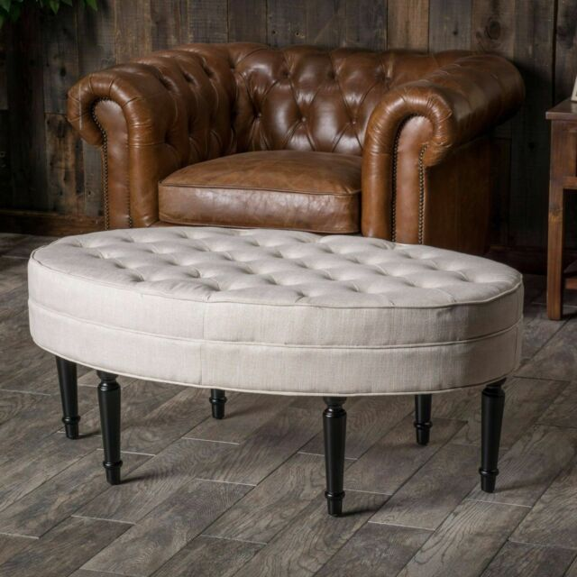 Oval Ottoman Coffee Table 4