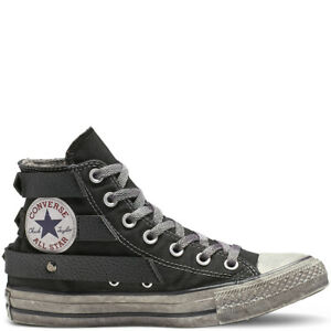 Dettagli su Converse All Star Studded High Top sneaker donna borchie art. 164524C col. nero