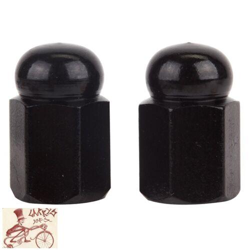 1 paire Trick Tops Hex Dome Voiture Noire Vélo Valve Caps