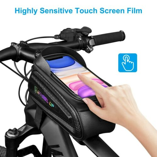 Bicycle Cycling Waterproof Phone Holder Case Bike Front Top Tube Frame Bag MTB