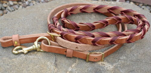 Top Quality Hand-Made Leather Laced Roping Barrel Reins Quality Horse Tack