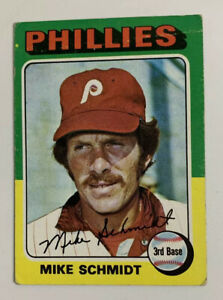 1975 Mike Schmidt # 70 Topps Baseball Card Philadelphia Phillies HOF