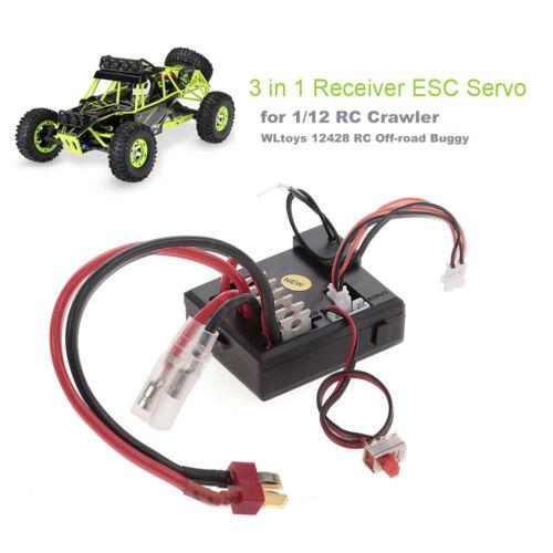 3 in 1 Receiver ESC Servo for 1//12 WLtoys 12428 RC Crawler Off-road Car UK/_ GT