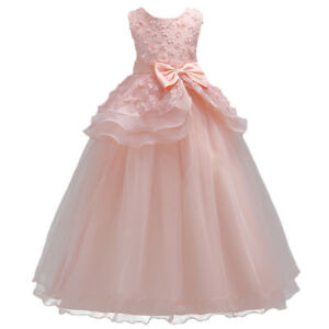 Flower-Girl-Kid-Princess-Dress-Bridesmaid-Graduation-Wedding-Formal-Prom-Dresses