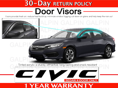 2016-2017 Civic Sedan Moonroof Visor 08R01-TBA-100 Geuine Honda