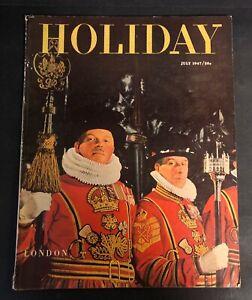 Vintage Holiday Magazine July 1947 London, Fleet Street ...