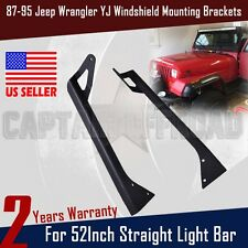 "For 52"" Straight LED Light bar Roof Mounting Bracket*2 87~95 Jeep YJ Wrangler AP"