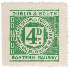 I-B-Dublin-amp-South-Eastern-Railway-Letter-Stamp-4d