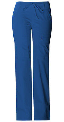 Royal Cherokee Luxe Junior Fit Low Rise Drawstring Cargo Scrub Pants 21100 ROYV