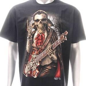 963ca5c2b89 g26 Rock Chang T-shirt Tattoo Glow in Dark Dracula Zombie Guitar ...