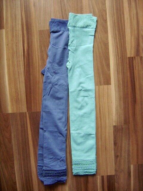 Legging Capri blau ODER türkis Size S Gr. 36 UK 8 US 6 Strumpfhose NEU