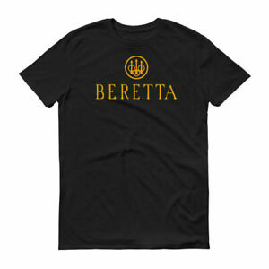 Beretta Orange Logo T-Shirt 2nd Amendment Pro Gun Brand Firearms Rifle Tee New