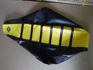 FLU-DESIGNS-BLACKYELLOW-RIBBED-GRIPPER-SEAT-COVER-SUZUKI-RMZ450-2005-2006-2007