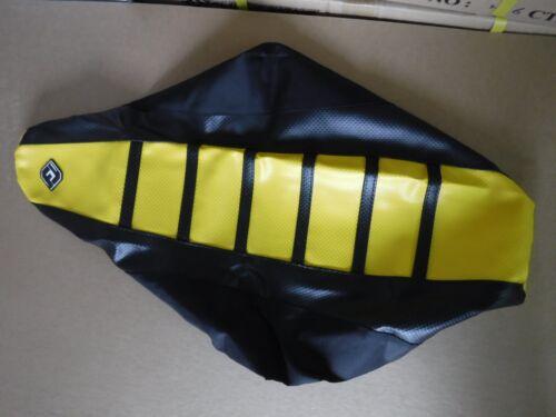 FLU DESIGNS  BLACKYELLOW RIBBED GRIPPER SEAT COVER SUZUKI RM85