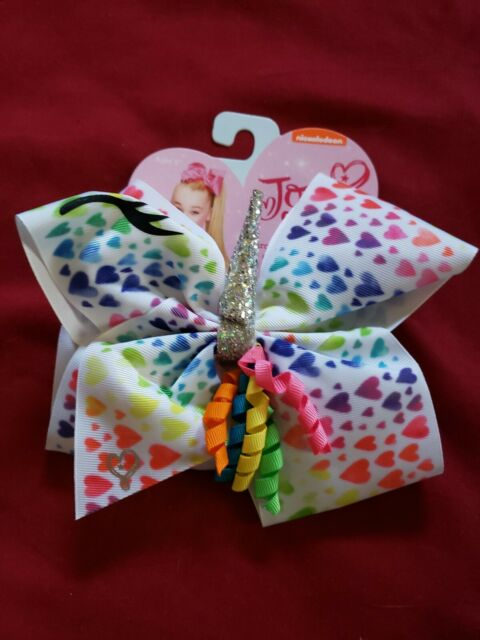 Jojo Siwa pink unicorn gold bow nwt