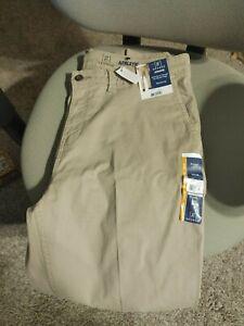George Para Hombre Talla 38x30 Athletic Pantalones Ajustados Conico Pierna Beige Nuevo Wtags Ebay
