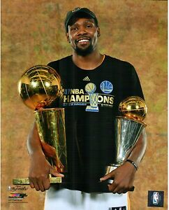 Kevin Durant 2017 NBA Champions Golden State Warriors MVP & Finals Trophy 8x10
