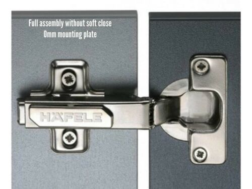 HAFELE STANDARD 110° CONCEALED CLICK ON FULL OVERLAY HINGES OPTIONAL SOFT CLOSE