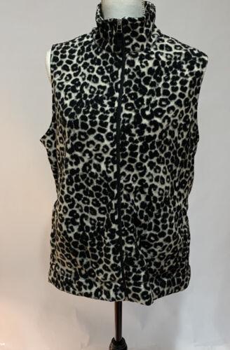 Kim Rogers Animal Print Fleece -Type Womens' Vest
