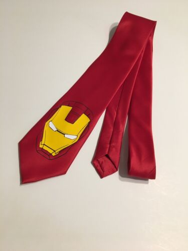 Red Super Cool Tie Ironman New