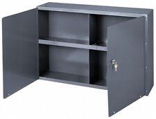Durham Wall Storage Cabinet With 1 Shelf 8 12 Deep Gray Powder Coated Steel