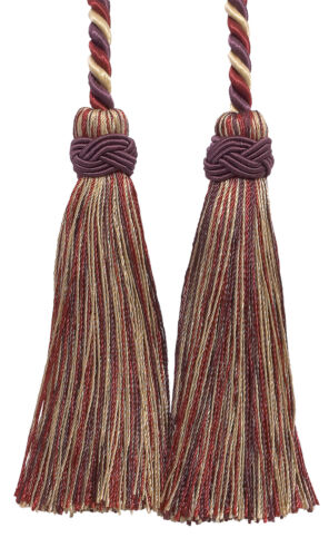 "Taupe Wine 4/"" Double Tassel Tieback Royal Harvest Invidual"