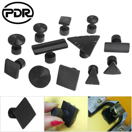Black PDR Tools Dent Puller Tabs Paintless Dent Repair Removal Hail Set 12pc