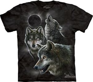 eclipse wolves t shirt by the mountain 3 wolf moon night sky sizes