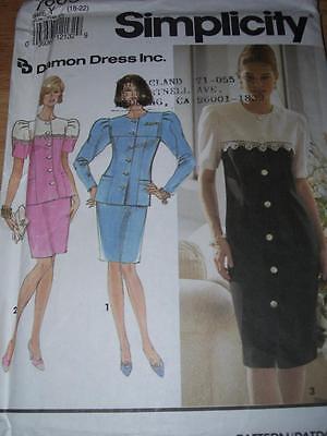 SIMPLICITY #7669-LADIES PRETTY PRINCESS SEAM DRESS - TOP & SKIRT PATTERN 18-22uc