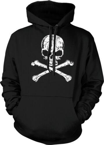 Skull Crossbones Biker Hardcore Chopper Motorcycle Hoodie Pullover Sweatshirt