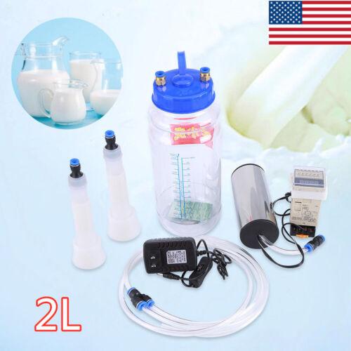 2L Portable Electric Milker Milking Machine Vacuum Pump for Farm Cow Sheep Goat