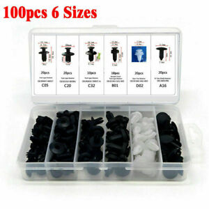 100x-Clips-plastico-coche-remache-empuje-recorte-paneles-sujetador-parachoques